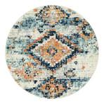 "Unique Loom Mediterranean Morocco Rug // Ivory // Round (48"" x 48"")"