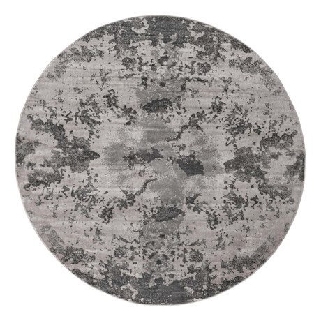 "Unique Loom Metro Glaze Rug // Light Gray // Round (48"" x 48"")"