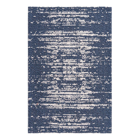 "Unique Loom Static Decatur Rug // Navy Blue (26"" x 36"")"