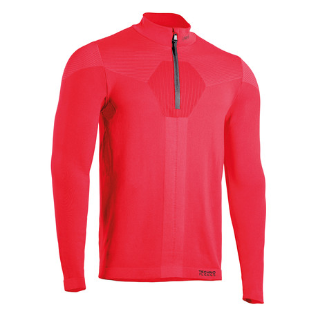 Iron-Ic // Long Sleeve Half Zip Sweater // Rosso (S)