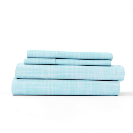 Urban Loft // 4-Piece Haulm Sheet Set // Aqua (Queen)
