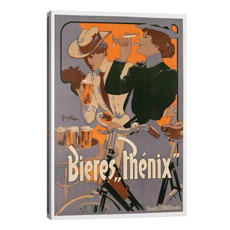 "Poster advertising Phenix beer, c.1899  // Adolfo Hohenstein (26""W x 40""H x 1.5""D)"