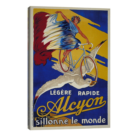 """Alcyon French Bicycle Advertising Vintage Poster // Unknown Artist (26""""W x 40""""H x 1.5""""D)"""