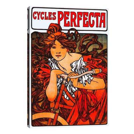 "Cycles Perfecta // Alphonse Mucha (26""W x 40""H x 1.5""D)"