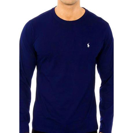 Long-Sleeve Crew Neck Shirt // Navy Blue (S)