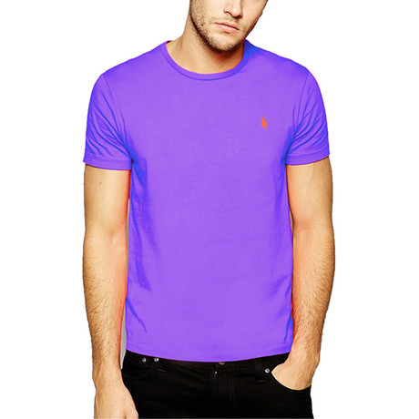Crew Neck T-Shirt // Purple (S)