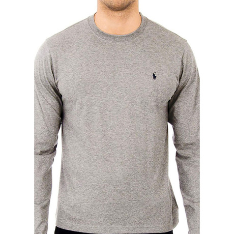 Long-Sleeve Crew Neck Shirt // Dark Gray (S)