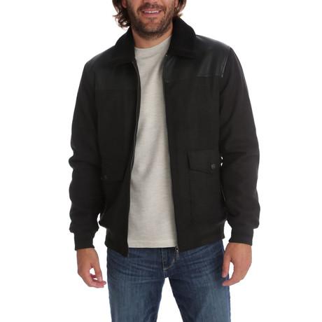 Peter Vegan Melton Bomber Jacket // Black (S)