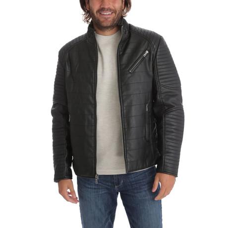 Ian Vegan Leather Moto Jacket // Black (S)