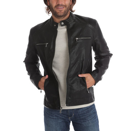 Justin Vegan Leather Jacket // Black (S)