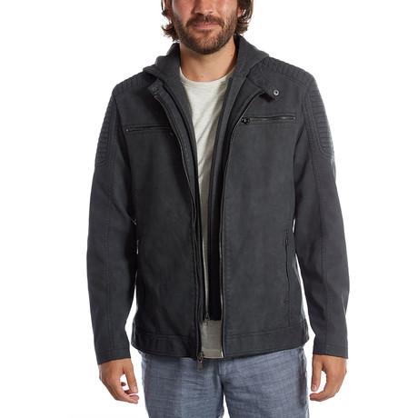 Chandler Vegan Leather Moto Jacket // Black (S)