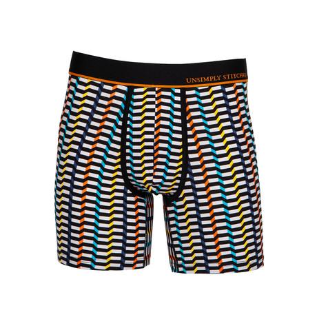 Step Stripe Boxer Brief // Black + White (S)