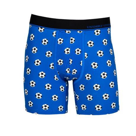 Soccer Balls Boxer Brief // Medium Blue (S)