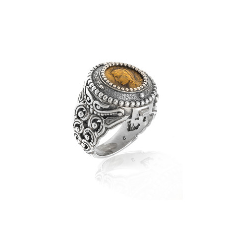 Konstantino Ladies Opening Sterling Silver Ring // Ring Size 7 // Store Display