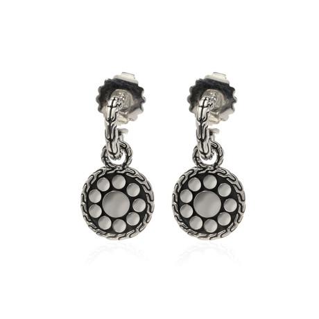 John Hardy Sterling Silver Dot Earrings // Store Display