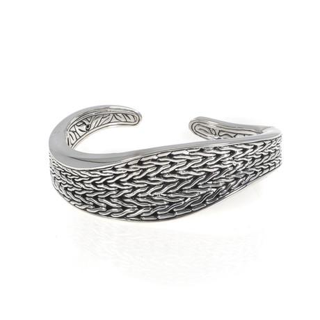 John Hardy Classic Chain Sterling Silver Bangle Bracelet // Store Display
