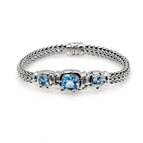 John Hardy Sterling Silver + Blue Topaz Kali Bracelet // Store Display