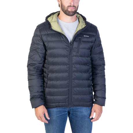 Rip-Stop Down Puffer // Muted Black (Small)