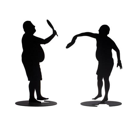Pair of Paddleball Players // Model 2