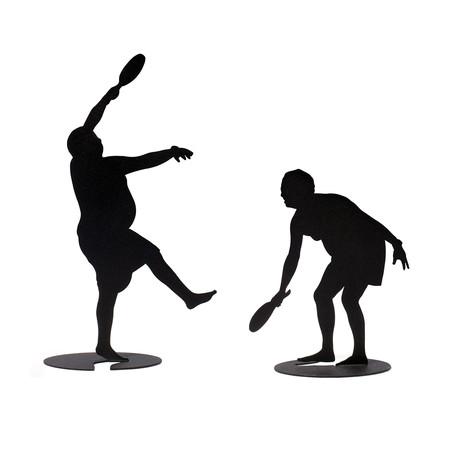 Pair of Paddleball Players // Model 1