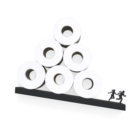 Avalanche // Toilet Paper Shelf (Black)