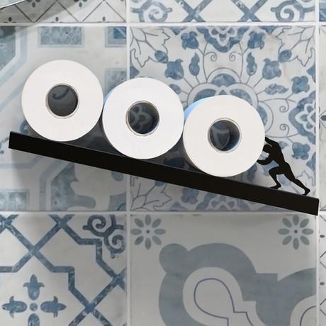 Sisyphus // Toilet Paper Shelf (Black)