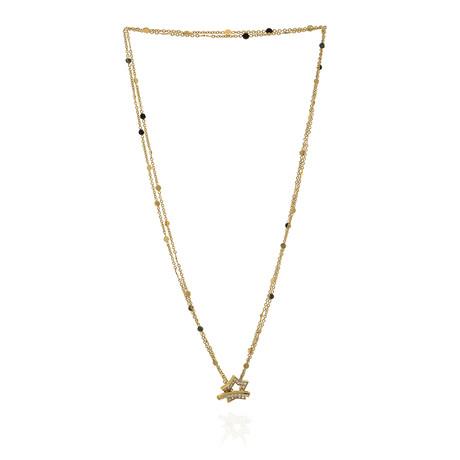 Pasquale Bruni Make Love 18k Yellow Gold Diamond Necklace // Store Display