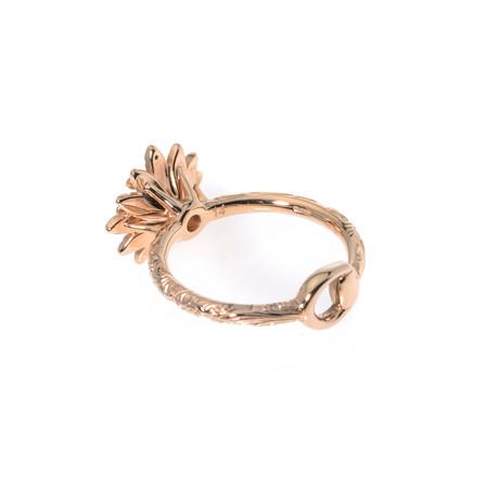 Gucci 18k Rose Gold Diamond Flora Ring // Ring Size 6.5 // Store Display