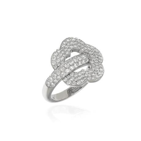 Pasquale Bruni Make Love 18k White Gold Diamond Ring // Ring Size 6.75 // Store Display