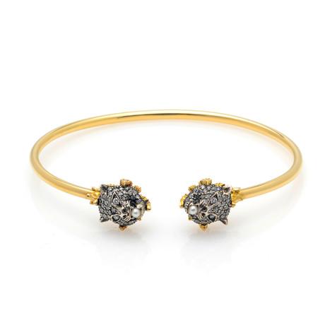 Gucci Le Marche Des Merveilles Gold + Silver Diamond Bracelet // Store Display