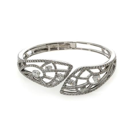 Damiani Battito D'ali 18k White Gold Diamond Bracelet // Store Display