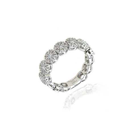 Damiani 18k White Gold Diamond Ring // Ring Size: 7 // Store Display