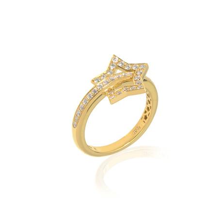 Pasquale Bruni Make Love 18k Yellow Gold Diamond Ring II // Store Display