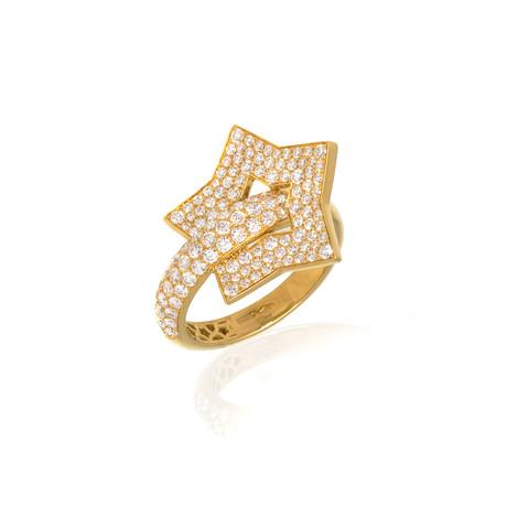Pasquale Bruni Make Love 18k Yellow Gold Diamond Ring I // Store Display