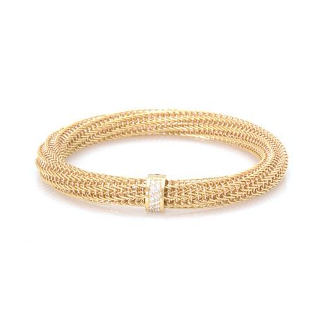 Roberto Coin 18k Yellow Gold Diamond Primavera Bracelet // Store Display