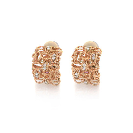 Roberto Coin 18k Two-Tone Gold Diamond Barocco Earrings I // Store Display