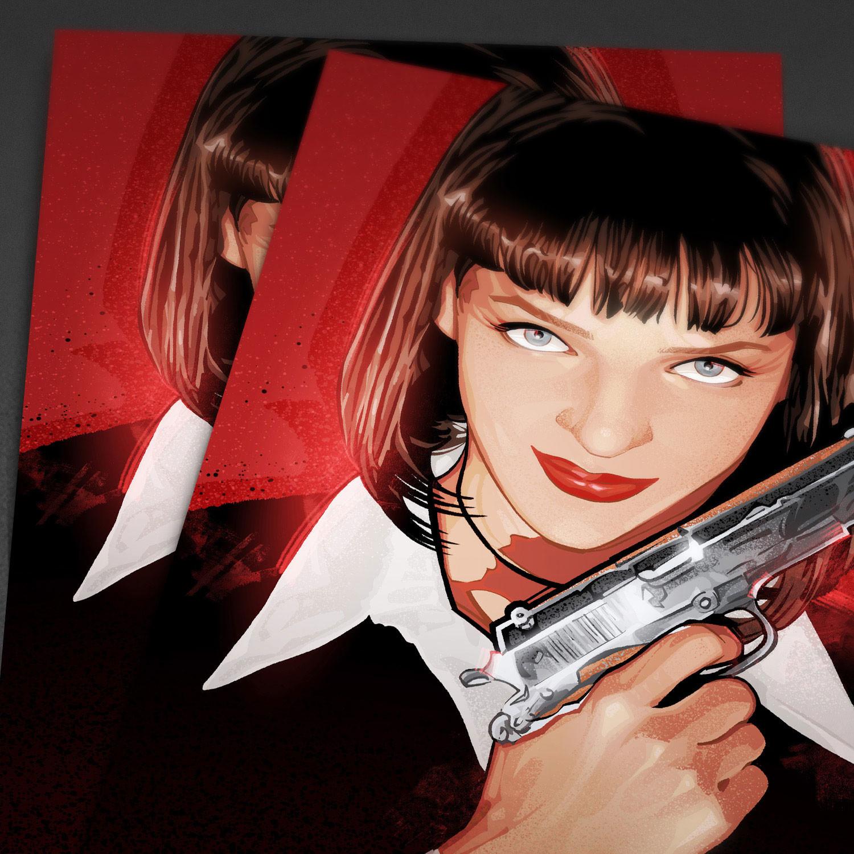 Mia Gun (11W x 17H) - The Pixel Empire - Touch of Modern