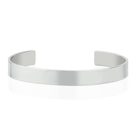 """Flat Bangle // Silver (8"""")"""