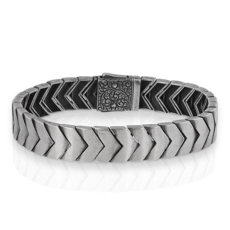 """Chevron Bracelet // Silver (8"""")"""