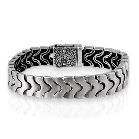 """Wave Bracelet // Silver (8"""")"""