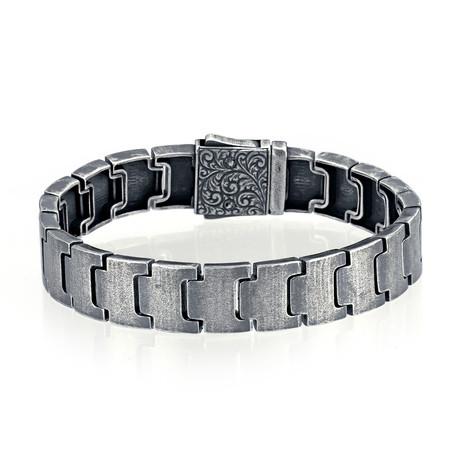 """Filigree Link Bracelet // Oxide (8"""")"""