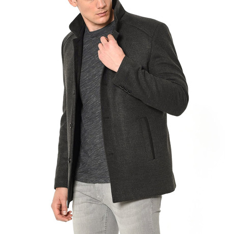 Athens Overcoat // Anthracite (Medium)