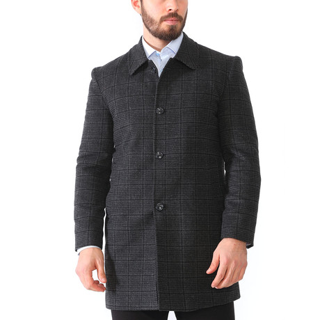 London Coat // Checked Anthracite (Medium)