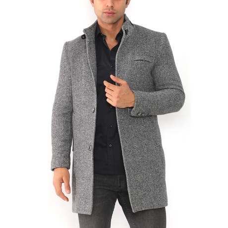 Paris Coat // Diagonal Anthracite (Medium)