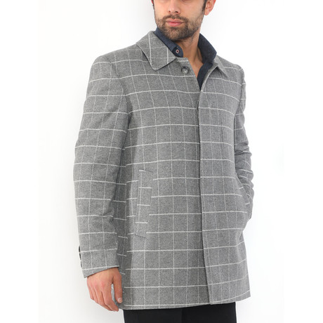 Bangkok Coat // Patterned Gray (Medium)