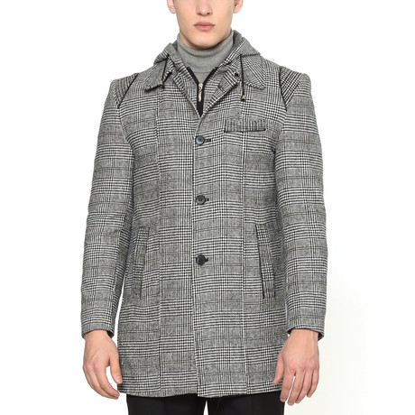 Dubai Coat // Checked Gray (Medium)
