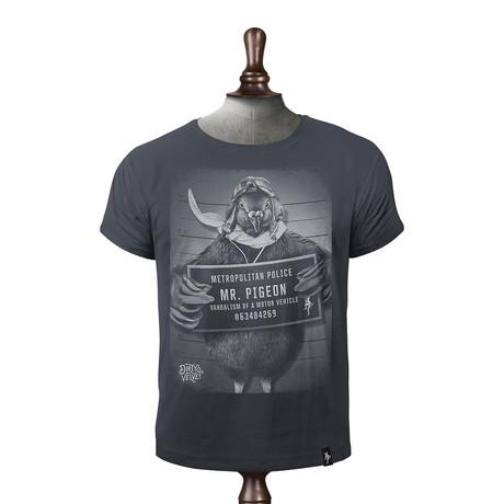 Mr. Pigeon T-Shirt // Charcoal (XS)