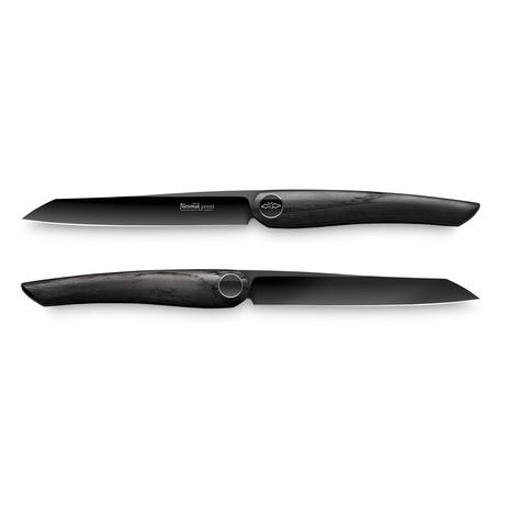 Nesmuk JANUS // 2-Pieces Steak Knife Set // Bog Oak