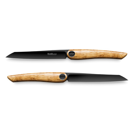Nesmuk JANUS // 2-Pieces Steak Knife Set // Olive Wood