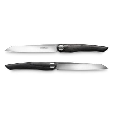 Nesmuk SOUL // 2-Piece Steak Knife Set // Bog Oak